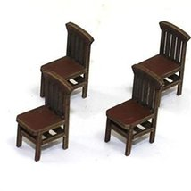 28mm Furniture: Medium Wood Banister Back Chair (A)
