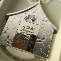 "Hallmark Keepsake 3.5"" Ornament Newborn Mother Child Home Metal Silver 2004 - $22.00"