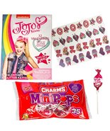 JoJo Siwa 32 Valentine Cards With Glitter Tattoos and Charms Lollipops - $13.99