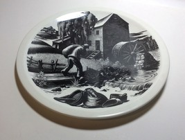 Wedgwood New England Industries Grist Milling Plate by Clare Leighton - $79.18