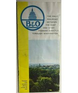 B&O Baltimore & Ohio Fall-Winter RR Passenger Railroad Timetable 1962-1963 - $9.89
