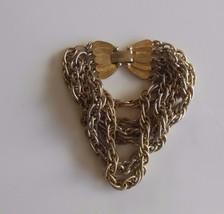 Vintage Signed Kramer of New York Multi-Chain Bracelet W/Butterfly Clasp - $55.00