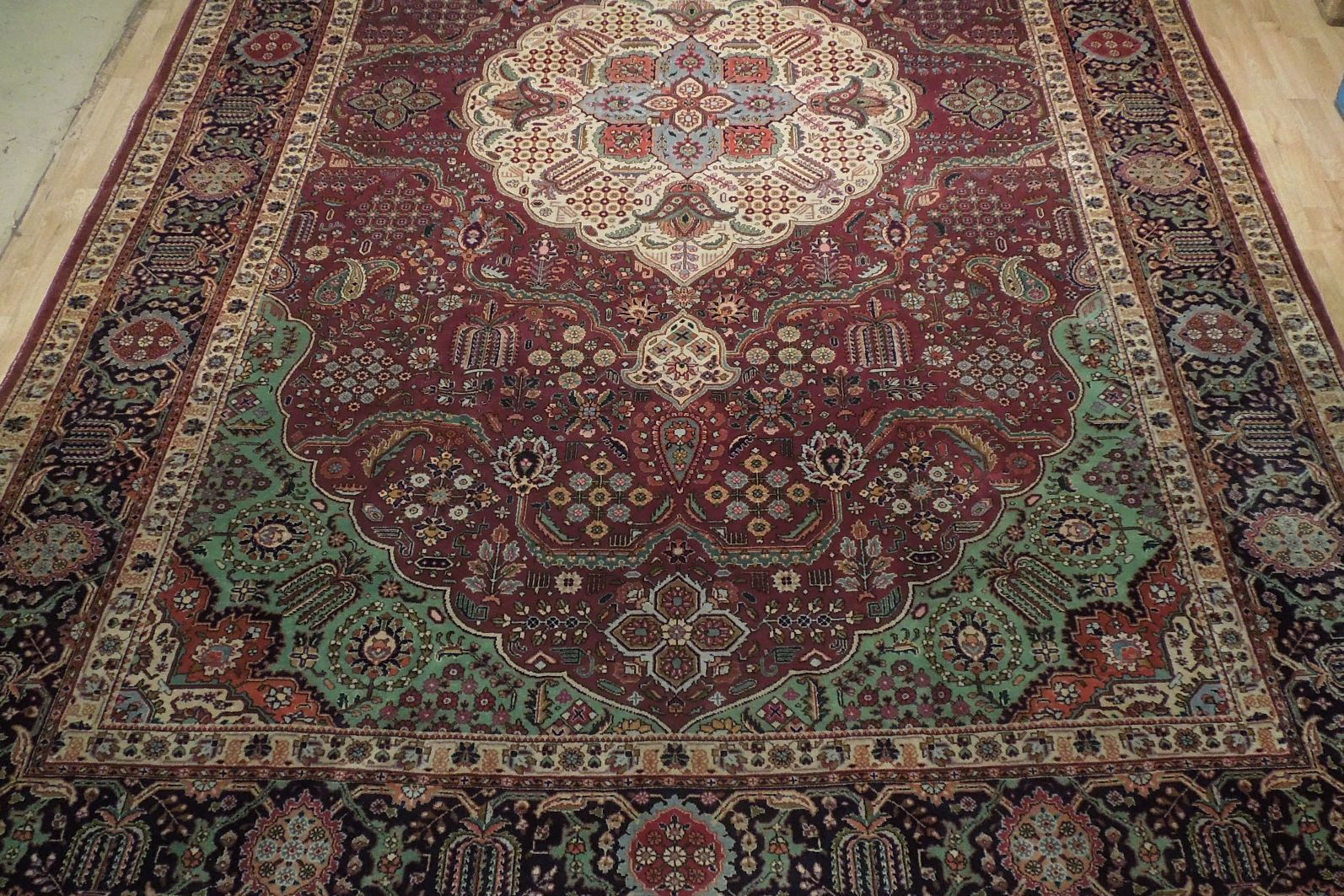 Compex Design Original Red Traditional Persian Wool Handmade Rug 10x16 Rug image 12