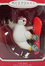 Cool Sport Coca Cola Polar Bear Hallmark Keepsake Ornament Handcrafted 2... - $6.33
