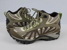 Merrell Ortholite Siren Ventilator Mid Gore-Tex Olive Green Vibram Boots Women 9 - $58.89