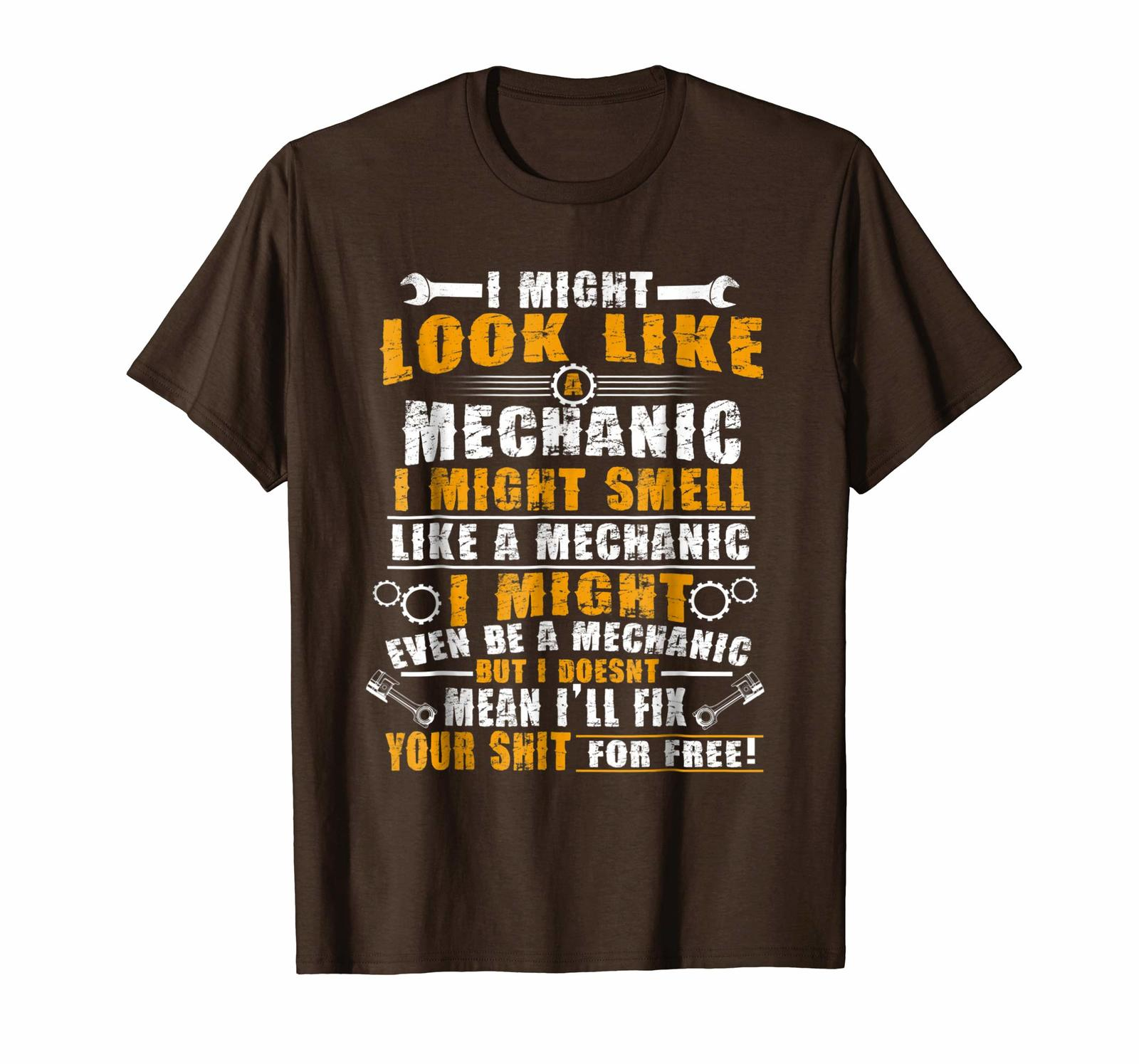 Brother Shirts - Funny Might Look Like A Mechanic T-Shirt Men