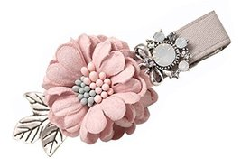 2 Pcs Sweet Duckbill Hairpin Hair Ornaments Flower Hairpinside Clip ,Pink