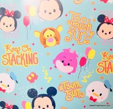 Tsum Tsum Disney Fiends Wrapping Paper Sheet Gift Book Cover Party 2 She... - $12.82