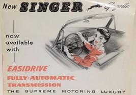 SINGER GAZELLE vintage 4-page color auto brochure (circa 1960's) - $9.89