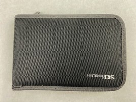 "Nintendo DS Black and Gray Carrying Case Side Zipper 7.75"" 5.25"" 1.5"" - $5.00"