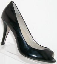 Kenneth Cole 'Peepin' black patent leather peep toe slip on heels 7.5M - $28.57