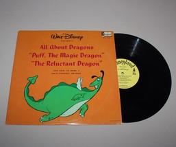 1966 Walt Disney All About Dragons Music 33 1/3 Disneyland Record Album ... - $9.85