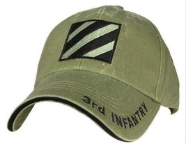 US ARMY 3RD INFANTRY - U.S. Army OD Green Military Baseball Cap Hat - $23.95