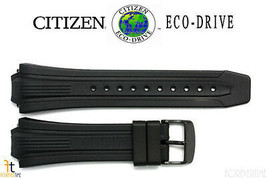 Citizen Eco-Drive E168-S080118 Black Rubber Watch Band Strap - $79.95