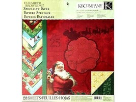 """K&Company 12x12 Inch Specialty Paper Pad """"Visions of Christmas"""" #30-649989"""