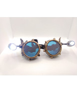 Steampunk Led aircraft design goggles spike rave glasses victorian goggles - $24.00
