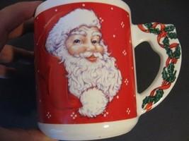 Vintage Christmas Coffee Mug Cheryl Ann Johnson 1991 Santa Clause LeeBo - $14.01