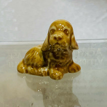 Vintage Wade Red Rose Tea Figure Cocker Spaniel Puppy Dog Whimsies - $10.99
