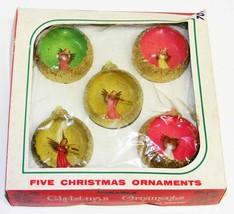 ANGELS - Vintage Plastic Diorama Christmas Ornaments IOB - $45.00