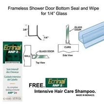 """Shower Door Dual Durometer PVC Seal & Wipe for 1/4"""" Glass - 32"""" long w/ ... - $11.83"""