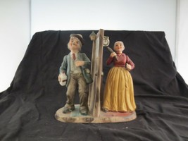 Arnart Figurine Drunk Husband Wife with Rolling Pin image 2
