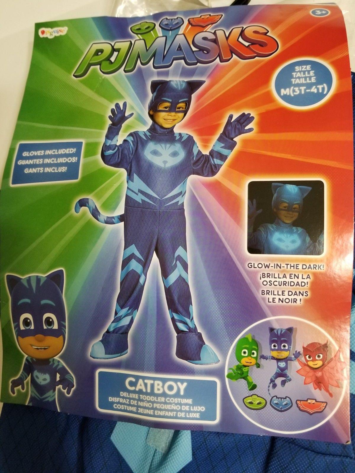 Catboy Classic Toddler PJ Masks Costume Medium//3T-4T