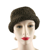 Saks Fifth Avenue Brown Woven Straw Pork Pie Hat  size S - $16.00
