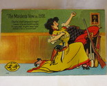"Antique Leap Year Postcard - ""The Maiden's Vow in 1908"", Unposted"