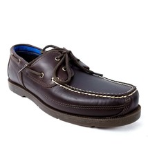 Timberland Mens Boat Shoes Sz 11.5 Dark Brown Leather Piper Cove Full Gr... - $62.99