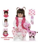 Reborn Baby Doll Toy Cloth Body Stuffed Realistic Baby Doll With Giraffe... - £52.98 GBP+