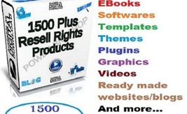 Give You 1500 Plus Resell Rights Products With Many Bonus Fast Delivery - $2.99