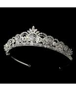 Classic Royal Princess Silver Swarovski Crystal Pearl Flower Prom Bridal... - €75,43 EUR