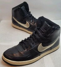 Nike Air Force 1 Light High Top Blk Basketball Shoes 525395-011 Womens S... - £36.28 GBP