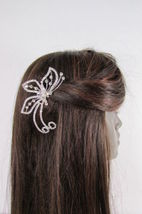 Women Silver Metal Head Fashion Jewelry Butterfly Hair Pin Bridal Wedding Party image 6