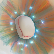 WOMEN MINI TUTU Skirt with Lights High Waisted Many Color Mini Petticoat Costume