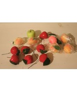 Lot of 14 VINTAGE MILLINERY FAUX FRUIT - $19.75