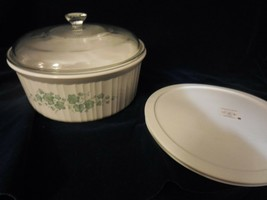 Corning Ware Callaway  on French White 1 qt Casserole w/Glass & Storage Lids - $25.25