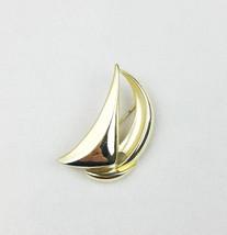Vtg Danecraft sailboat nautical brooch pin signed gold tone - $20.79