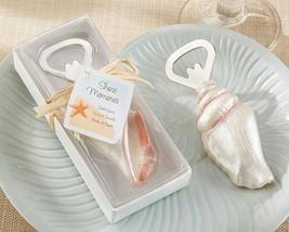 50 Seashell Bottle Opener Sand Summer Beach Theme Wedding Favors in Gift... - $107.30