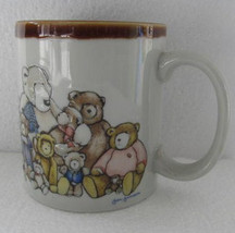 1980's Heartprint Raised Bears Finish Novelty Collectible Coffee Mug by ... - $15.99