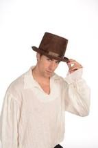 SteamPunk Cosplay Victorian Deluxe Brown Top Hat Hand Pressed NEW UNWORN - $12.59