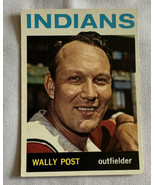Topps 1964 Wally Post Outfielder Cleveland Indians #253 Baseball Card Un... - $9.49