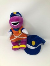 "Mattel Barney the dinosaur Police Cop Plush With Extra Kids Hat 11"" A22 - $19.95"