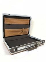 Vintage Samsonite Brown Leather Combination Lock Briefcase Attaché Hards... - $65.00