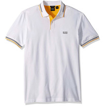 Hugo Boss Men's Premium Paul Modern Essential Slim Fit Polo Shirt White