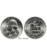1957 P Washington Brilliant BU Silver Quarter CP1951 - €10,38 EUR