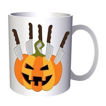 Scary Halloween Pumpkin 11oz Mug q195 - £8.31 GBP