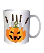 Scary Halloween Pumpkin 11oz Mug q195 - $14.28 CAD