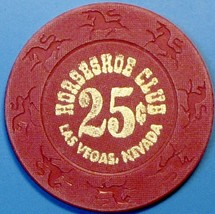 25¢ Casino Chip. Horseshoe Club, Las Vegas, NV. E76. - $3.99