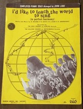 I'd Like To Teach The World To Sing (In Perfect Harmony) C. 1971 - $6.79